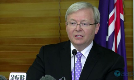 Kevin Rudd announces leadership challenge